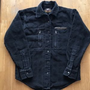 Harley Davidson Long Sleeved Corduroy Shirt